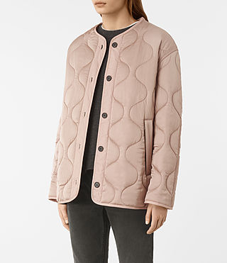 Women's Hayes Jacket (Dusty Pink) - product_image_alt_text_3