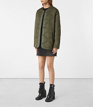 Womens Hayes Jacket (Khaki Green) - product_image_alt_text_2
