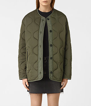 Womens Hayes Jacket (Khaki Green) - product_image_alt_text_3
