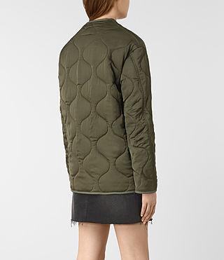 Womens Hayes Jacket (Khaki Green) - product_image_alt_text_5