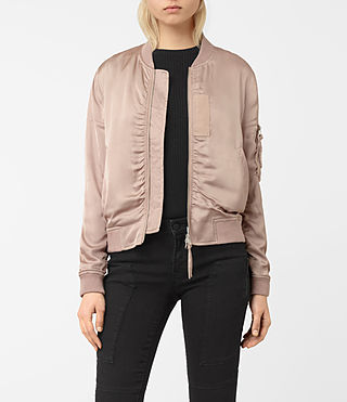 Womens Kuma Bomber Jacket (Dusty Pink)