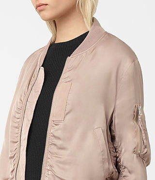 Women's Kuma Bomber Jacket (Dusty Pink) - product_image_alt_text_2