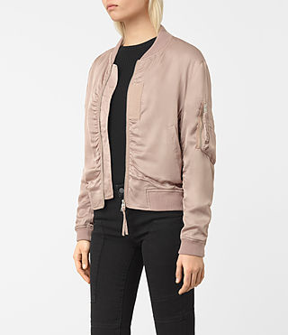 Women's Kuma Bomber Jacket (Dusty Pink) - product_image_alt_text_3