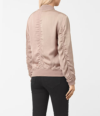 Women's Kuma Bomber Jacket (Dusty Pink) - product_image_alt_text_4