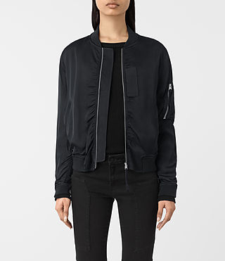 Womens Kuma Bomber Jacket (Ink Blue)