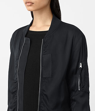 Women's Kuma Bomber Jacket (Ink Blue) - product_image_alt_text_3