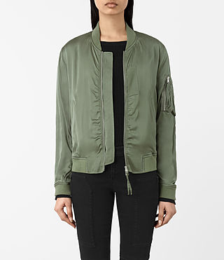 Women's Kuma Bomber Jacket (SMOKE GREEN) -