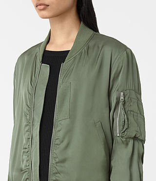 Donne Bomber Kuma (SMOKE GREEN) - product_image_alt_text_2