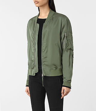 Donne Bomber Kuma (SMOKE GREEN) - product_image_alt_text_3