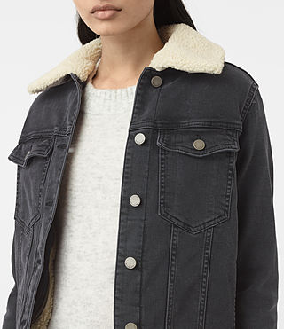Donne Annie Denim Jacket (Washed Black) - product_image_alt_text_2