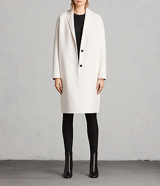 Women's Anya Coat (PORCELAIN WHITE) - Image 1