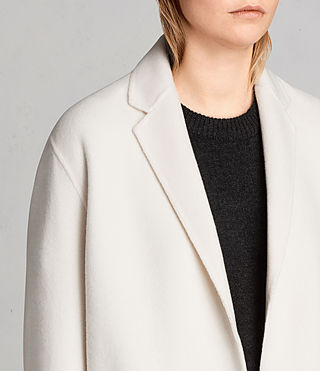 Women's Anya Coat (PORCELAIN WHITE) - Image 2