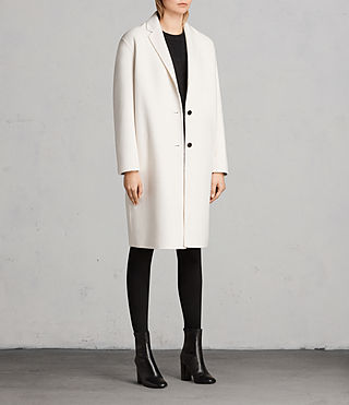 Women's Anya Coat (PORCELAIN WHITE) - Image 3