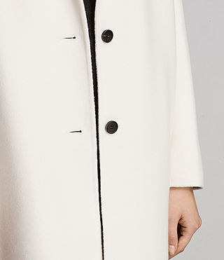 Women's Anya Coat (PORCELAIN WHITE) - Image 4