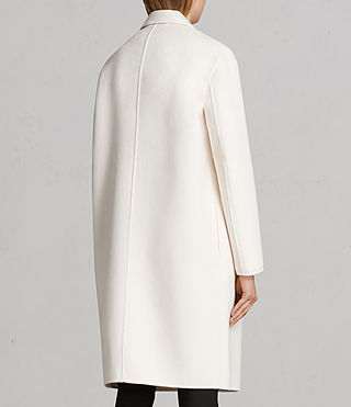 Women's Anya Coat (PORCELAIN WHITE) - Image 6
