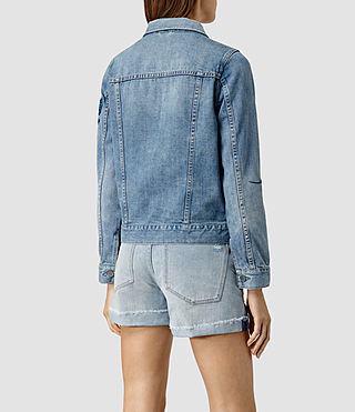 Womens Birds Denim Jacket (Indigo Blue) - product_image_alt_text_3