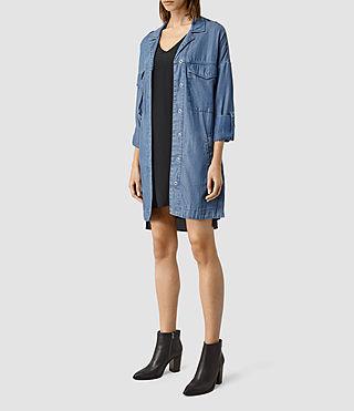 Damen May Tencel Coat (Indigo Blue) - product_image_alt_text_2
