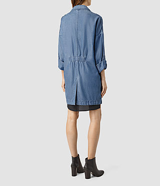 Mujer May Tencel Coat (Indigo Blue) - product_image_alt_text_3