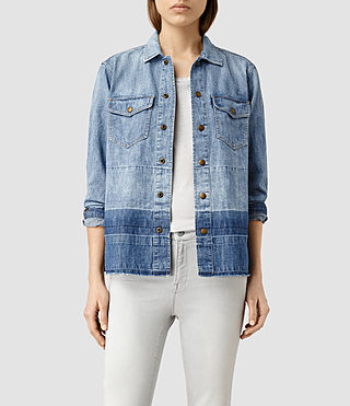 Womens Cal Denim Shirt Jacket (Indigo Blue)