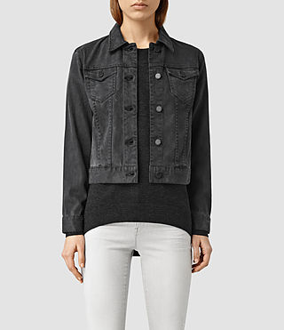 Womens Loa Soft Trucker Jacket (Black)