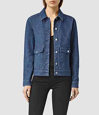 Womens Larissa Denim Jacket (Blue)
