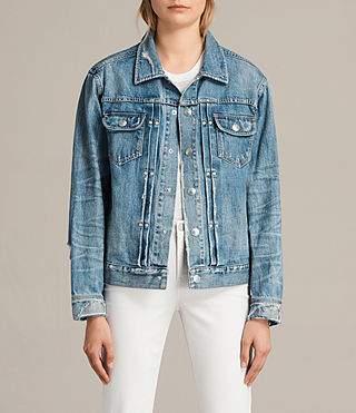 Women's Ina Denim Jacket (Indigo Blue) - Image 1