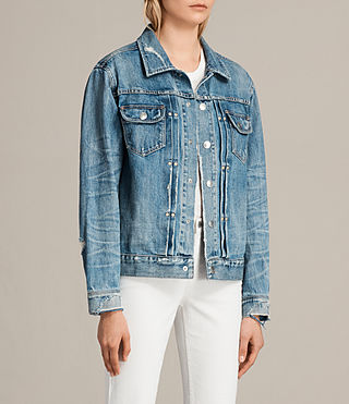 Women's Ina Denim Jacket (Indigo Blue) - Image 3
