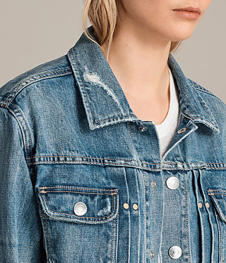 Women's Ina Denim Jacket (Indigo Blue) - Image 4