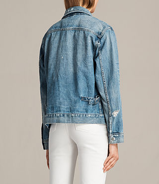Women's Ina Denim Jacket (Indigo Blue) - Image 5
