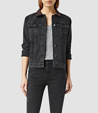 Womens Elena Denim Jacket (Black)