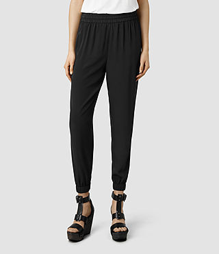 Womens Reed Trousers (Black)