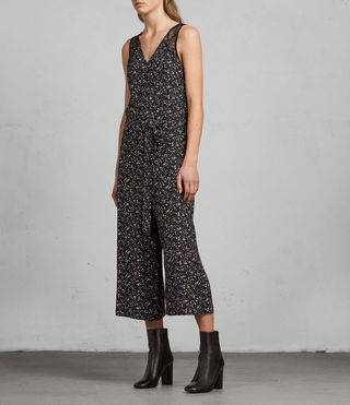 Women's Cate Pepper Jumpsuit (Black) - Image 3