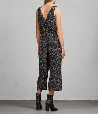 Women's Cate Pepper Jumpsuit (Black) - Image 6