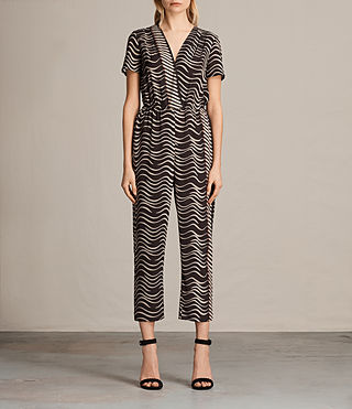 Donne Palme Match Jumpsuit (Black) -