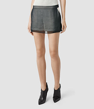 Womens Nora Shorts (Oyster/Black)