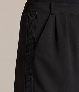 Women's Coline Embroidered Shorts (Black) - product_image_alt_text_2