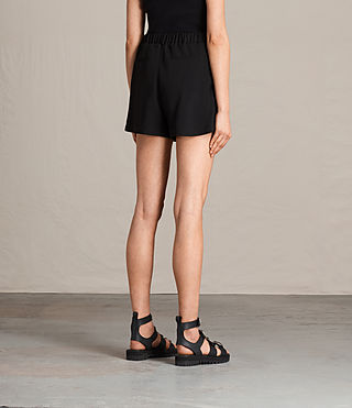Women's Coline Embroidered Shorts (Black) - product_image_alt_text_4