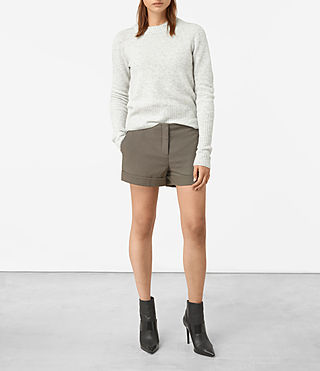 Damen Alyas Shorts (Light Khaki) -
