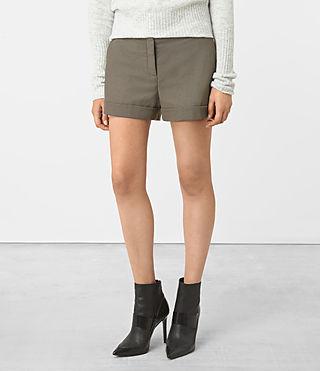 Womens Alyas Shorts (Light Khaki) - product_image_alt_text_2