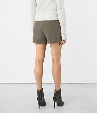 Womens Alyas Shorts (Light Khaki) - product_image_alt_text_3