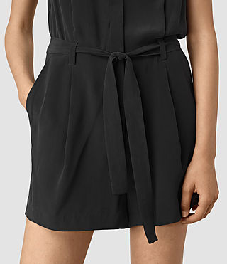 Mujer Nila Romper (Black) - product_image_alt_text_2