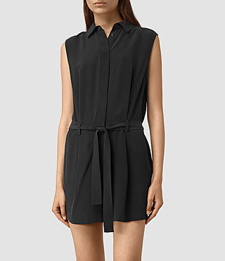 Mujer Nila Romper (Black) - product_image_alt_text_3