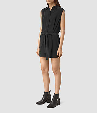 Mujer Nila Romper (Black) - product_image_alt_text_5