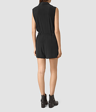 Mujer Nila Romper (Black) - product_image_alt_text_6