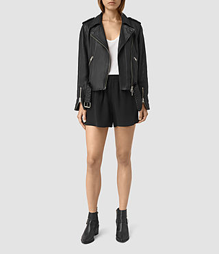 Damen Kaplan Silk Shorts (Black)