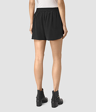 Donne Kaplan Silk Shorts (Black) - product_image_alt_text_4