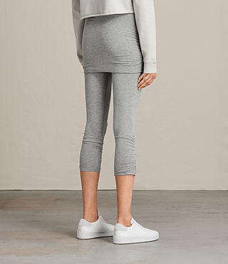 Womens Ruched Crop Raffi Leggings (Grey Marl) - product_image_alt_text_3