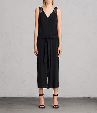 Womens 케이스 점프수트 (Black) - product_image_alt_text_1