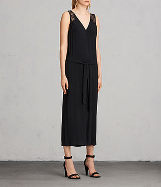 Womens 케이스 점프수트 (Black) - product_image_alt_text_3