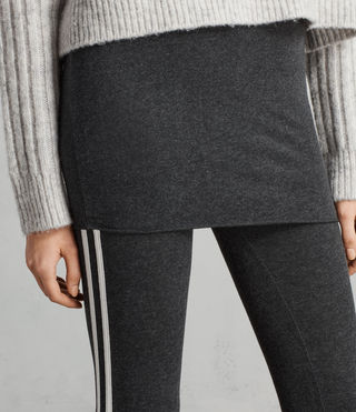 Mujer Leggings Raffi Side Stripe (Charcoal Grey) - Image 2